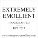 Extremely Emollient - Full logo - Black on white with border and URL